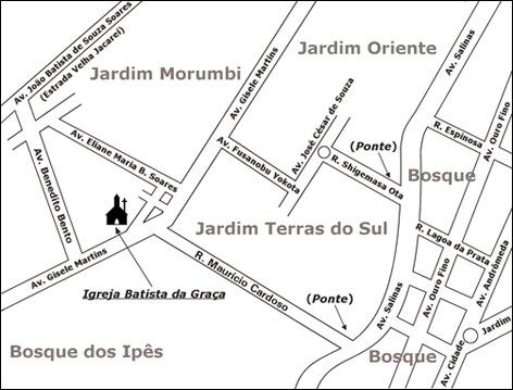 MAPA: Igreja Batista da Graça em São José dos Campos, SP